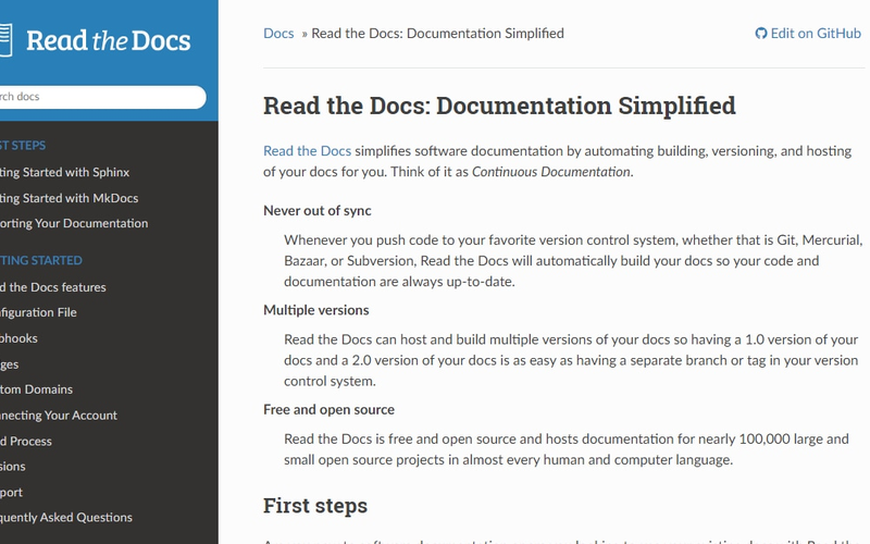 Managed Read the Docs hosting